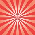 Comic background. Red Sunburst pattern. Sun rays abstract backdrop. Vector.