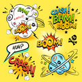 Comic Book Actions Royalty Free Stock Photo