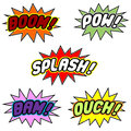 Comic book balloons Royalty Free Stock Image