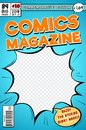 Comic book cover. Retro cartoon comics magazine. Vector template in pop art style Royalty Free Stock Photo