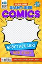 Comic book cover. Vintage comics magazine layout. Cartoon title page vector template Royalty Free Stock Photo