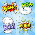 Comic book elements vector illustration of some cartoon text explosions Royalty Free Stock Photography