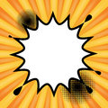 Comic book explosion abstract Royalty Free Stock Photo