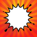 Comic book explosion Royalty Free Stock Photo