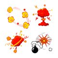 Comic Book Explosion, Bombs And Blast Set, cartoon