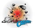 Comic book explosion - Crash Royalty Free Stock Photo