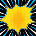 Comic book explosion superhero pop art style radial lines background. Manga or anime speed frame Royalty Free Stock Photo