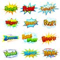 Comic book explosion vector illustration of collection of Royalty Free Stock Photos