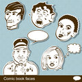 Comic book heads illustration of a Stock Images