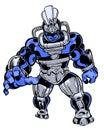 Comic book illustrated creature villain monster character original Stock Photography