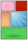Comic book page pop art template