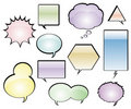 Comic Book Speech Balloons Royalty Free Stock Images