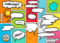 Comic Book Speech Bubbles Royalty Free Stock Photo
