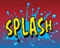 Comic book - Splash Royalty Free Stock Photo