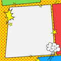 Comic book style frame Royalty Free Stock Photo