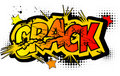 Comic Book Word - Crack Royalty Free Stock Image