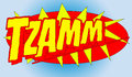Comic book word tzamm expression illustrated with the Royalty Free Stock Photography