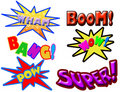 Comic book words Royalty Free Stock Image