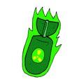 Comic Cartoon Atom Bomb