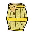 comic cartoon beer barrel