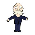 Comic cartoon disapointed old man retro book style disappointed Royalty Free Stock Photos