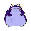 Comic cartoon fat frog retro book style Royalty Free Stock Photos