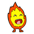 Comic cartoon flame character retro book style Stock Photo