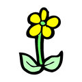 comic cartoon flower Royalty Free Stock Photo