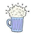 comic cartoon frothy beer