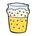 comic cartoon glass of beer