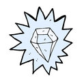comic cartoon huge diamond Royalty Free Stock Photo
