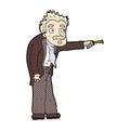 Comic cartoon man trembling with key unlocking retro book style Stock Photos