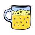 comic cartoon mug of beer