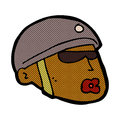 comic cartoon policeman head