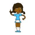 comic cartoon pretty maid woman Royalty Free Stock Photo