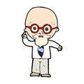 comic cartoon professor Royalty Free Stock Photo