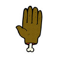 Comic cartoon severed hand retro book style Royalty Free Stock Images