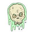 comic cartoon slimy skull Royalty Free Stock Photo