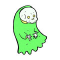 comic cartoon spooky ghoul Royalty Free Stock Photo