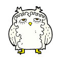 comic cartoon wise old owl