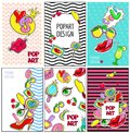 Comic Colorful Fashion Patches Brochures