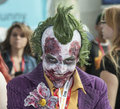 Comic con new york october attendee poses in the costume of joker during at the jacob k javits convention center on Stock Photo