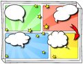 Comic frames as background vector illustration of some with speech bubbles Stock Photography