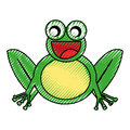 Comic frog character icon
