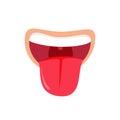 Comic mouth showing a tongue icon