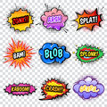 Comic Noise Effects Set Royalty Free Stock Photo