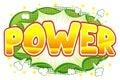 Comic sound effect power Royalty Free Stock Photo
