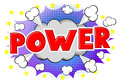 Comic sound effect power Royalty Free Stock Photo