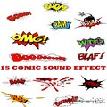 Comic sound effect svg Royalty Free Stock Photo
