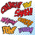 Comic Sound Effects Stock Photography